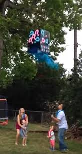 gender reveal balloons in a box small boy is wiped out by a box in hilarious gender reveal daily
