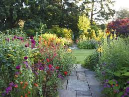 terrace border at malverleys hampshire united kingdom informal