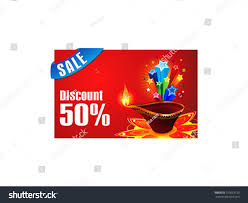 discount gift card abstract diwali discount gift card vector stock vector 155623130