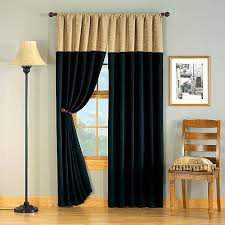 Black Gold Curtains Hometrends Versailles Chenille Window Curtain 1 Panel Black And