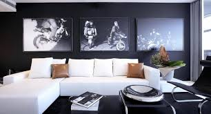 black wall office interior concepts that can be decor with white