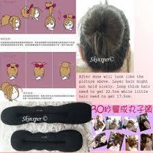 hair bun maker qoo10 magic foam hair bun maker tools fashion accessories