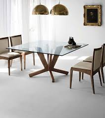Glass Dining Table And Chairs 10 Shimmering Square Glass Dining Tables That Will Impress You