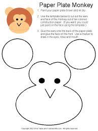 Paper Plate Monkey Craft - best 25 monkey crafts ideas on preschool crafts what