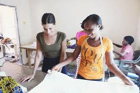 seamstress jobs calartian founded sustainable clothing line brings jobs to ghana