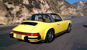 old porsche yellow porsche 911 targa original paint dry az with 3lengine