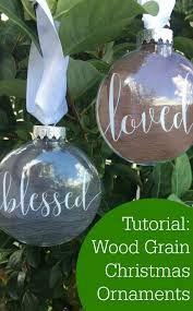 tutorial wood grain ornaments with silhouette or cricut