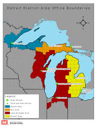 Michigan Area Code Map Detroit District U003e Locations