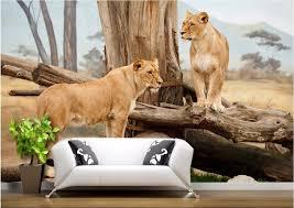 wildlife home decor 3d wallpaper room savannah lion natural wildlife home decor