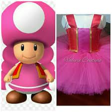 Toadette Halloween Costume Toadette Super Mario Bros Brothers Inspired Tutu Valurecouture