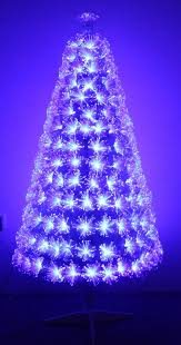white blue ripple effect fibre optic tree 4ft to 6ft