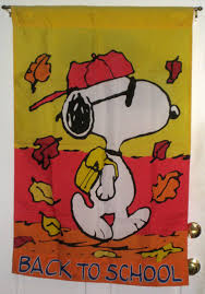 Snoopy Flags Sold Snoopy Back To Decorative Garden Flag 28 X 40 Peanuts