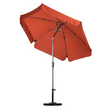 Lowes Patio Umbrella Shop California Umbrella Sunline Brick Market 7 5 Ft Patio