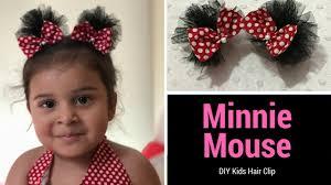 minnie mouse hair bow diy kids hair clip how to make minnie mouse hair bows