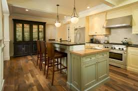 remodel old kitchen design with modern furniture and oak wood