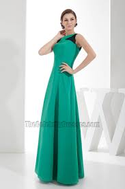 chic hunter a line long prom gown evening formal dress