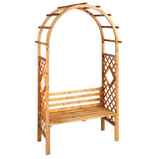 cedar wood garden arbor with bench christmas tree shops andthat