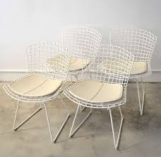 Bertoia Dining Chair Set Of White Bertoia Dining Chairs At 1stdibs