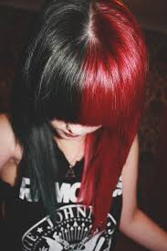 How To Dye Hair Two Colors Black U0026 Red Hair Soooo Wouldn U0027t Do This But Its Soooo Prettyy