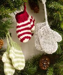 mitten ornaments crochet pattern and mitten ornaments knitting