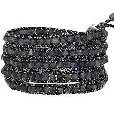 metallic ribbon luu labradorite bracelet on mokuba metallic ribbon