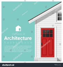 elements architecture background small house vector stock vector