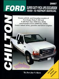 ford f250 f350 shop service repair manual chilton book haynes