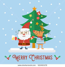 merry christmas vintage greeting card flat stock vector 332957726