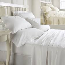 egyptian cotton 400 thread count fitted sheet white u0026 cream