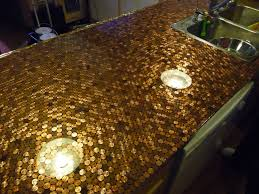 Epoxy Kitchen Countertops by Install A Penny Countertop In Your Kitchen Diy Countertops