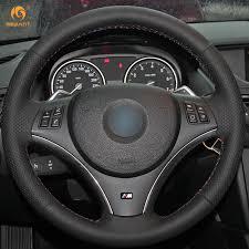 bmw 325i steering wheel aliexpress com buy mewant black artificial leather car steering