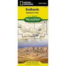 badlands national park map 239 badlands national park trail map national geographic store