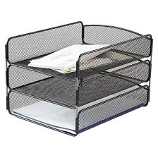 Desk Organizer Target Safco Steel Mesh Desk Tray With Three Compartments Letter