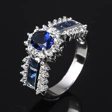 model cincin blue safir ring tiger picture more detailed picture about jewelry womens