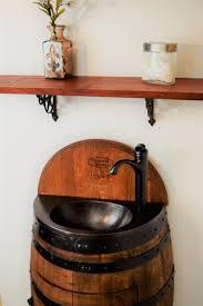 Oak Vanity Table Table Glamorous French Oak Half Wine Barrel Bathroom Vanity Table