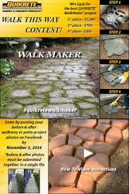 Quikrete Paver Mold by 11 Best Walk This Way Project Contest Images On Pinterest