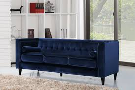furniture home taylor velvet sofa navy design modern 2017 small