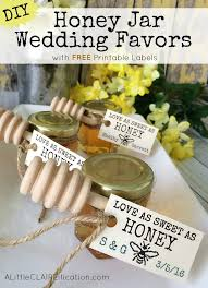 honey jar wedding favors honey jar wedding favors with free printable labels a