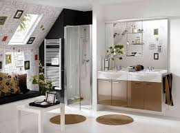 Basement Bathroom Renovation Ideas Unique Bathroom Renovation With Small White Table And Plants