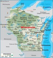wisconsin map usa map of wisconsin large color map
