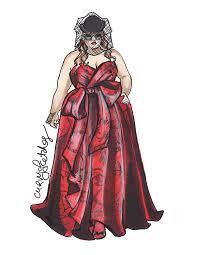 berita terkini plus size fashion design sketch illustration