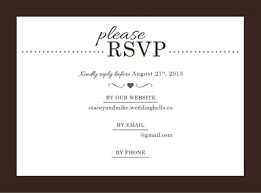Online Invitations With Rsvp Rsvp For Wedding Online Pacq Co