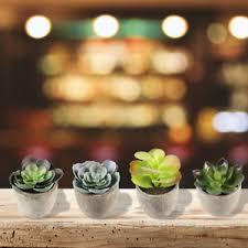 cactus home decor artificial succulent plant plants mini fake ornament plant pot