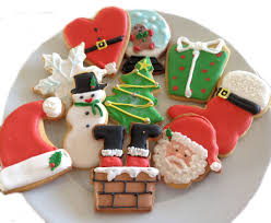 gorgeous handmade flooded with icing christmas biscuits x12 in