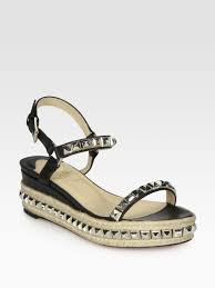 christian louboutin cataclou 60 studded espadrille sandals for