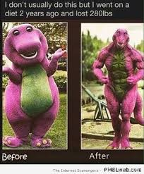 Barney The Dinosaur Meme - 30 funny barney the dinosaur before and after pmslweb