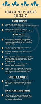 funeral planning checklist funeral pre planning checklist