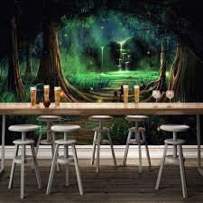 Children S Living Room Furniture by Custom 3d Photo Wallpaper Art Abstract Forest Waterfall Animal