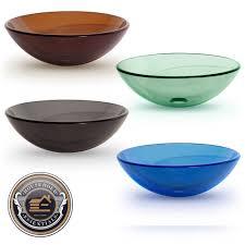 tempered glass round vessel vanity bathroom sink ebay glass
