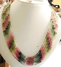pink coloured beads necklace images 6 strand 4mm multi colour tourmaline beads necklace gleam jewels jpg
